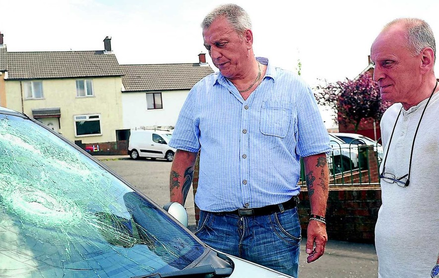 Ejected party gatecrashers attack Protestant enclave