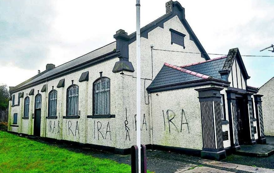 Vandals deface Orange hall with IRA graffiti