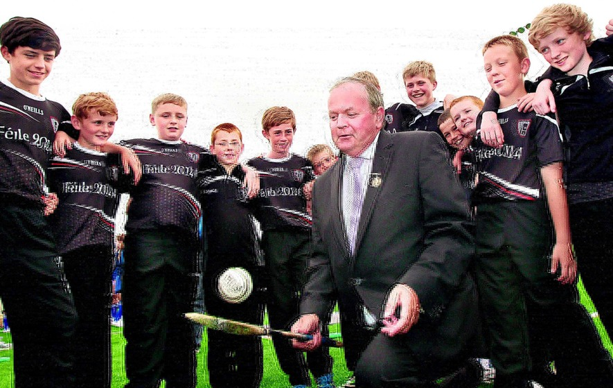 Young hurlers and camogs line out for Feile