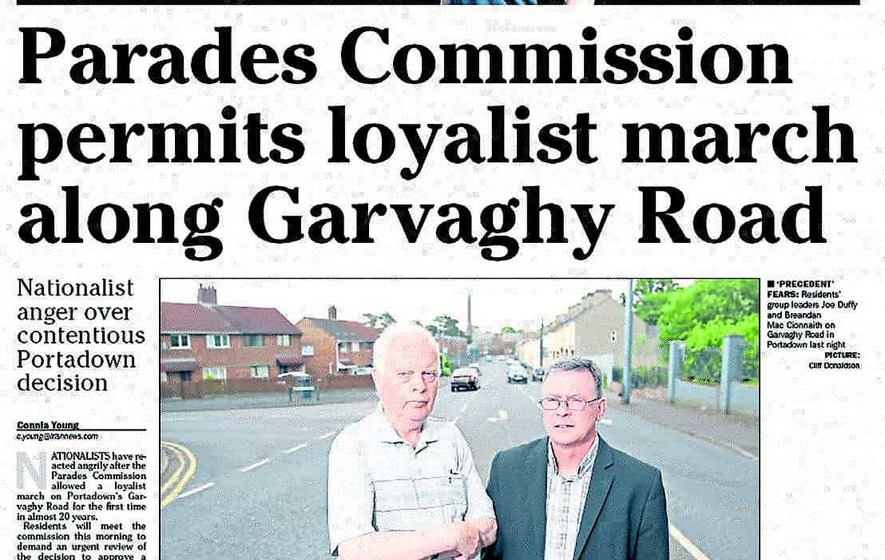 Residents 'not told' of Garvaghy Road march service plan