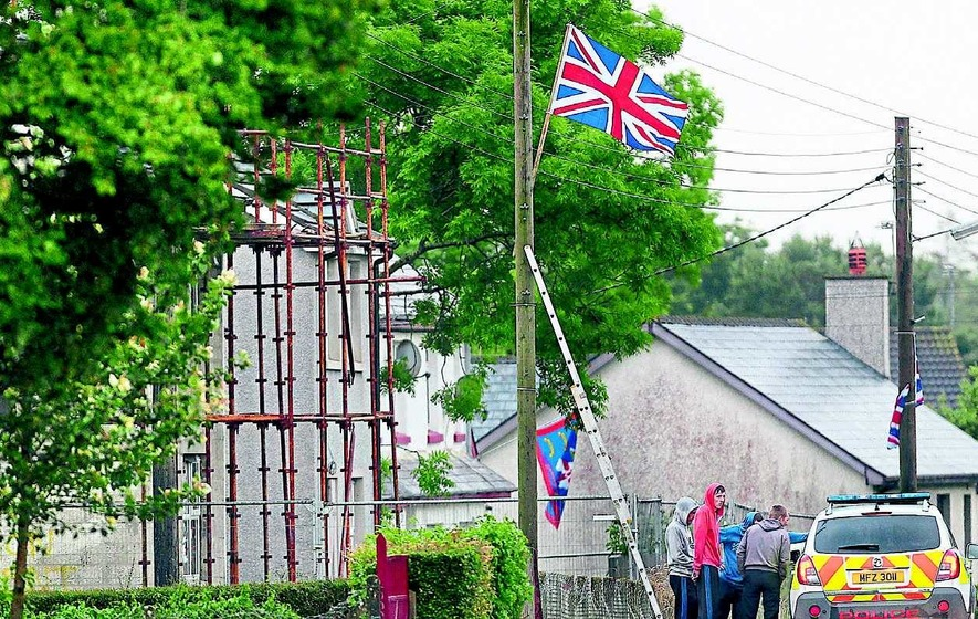 Union flag in Dervock chapel grounds 'will not be taken down'