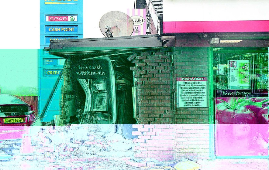 Thieves attempt a daring dawn raid on cash machine