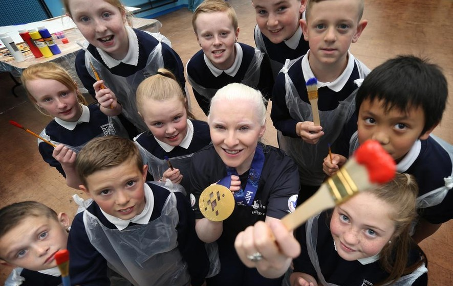 Golden girl Kelly Gallagher top of the class