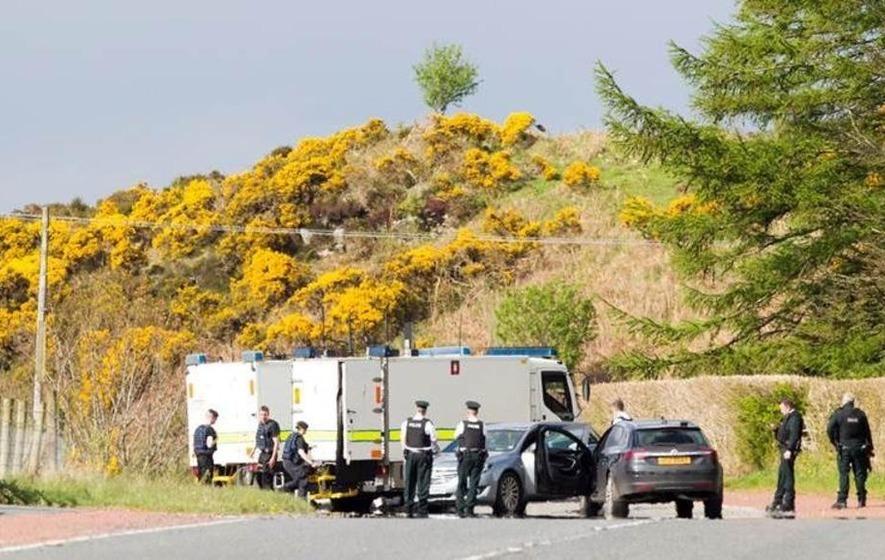 Detonated explosive device found near Newry