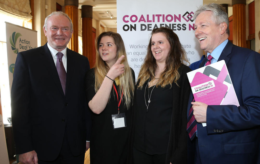 Three ministers help launch Coalition for Deafness