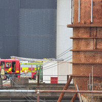 Small fire breaks out at oil rig in Harland & Wolff