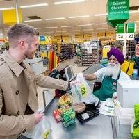 Supermarket rally offsets services sector slowdown