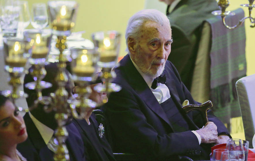 Film world saddened to hear of veteran horror actor Christopher Lee's death