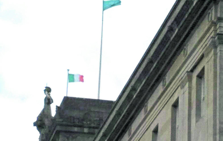 Wind behind Stormont flag storm