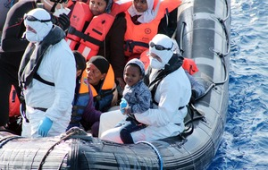 Irish navy crews have rescued more than 2,000 migrants