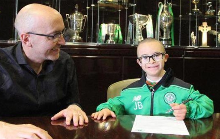 Onwards and upwards for Celtic superfan Jay Beattie
