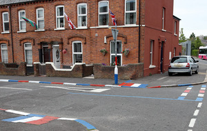'Union flag' road markings repainted by roads officials