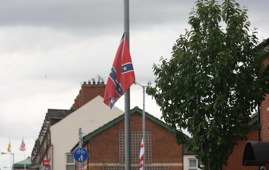 Flag-flying here about territory, not unity