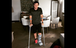 Rory McIlroy in major ankle injury ahead of The Open