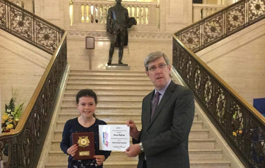 Minister celebrates Emma's `perfect' primary career