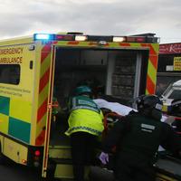 Paramedics wore full riot gear at Ardoyne