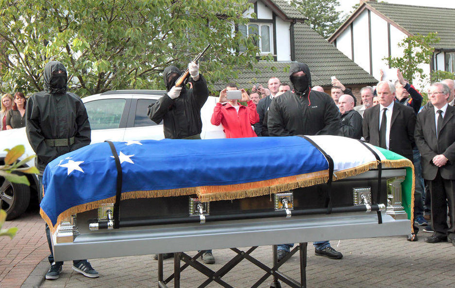 Shots fired over coffin of hunger striker's mother