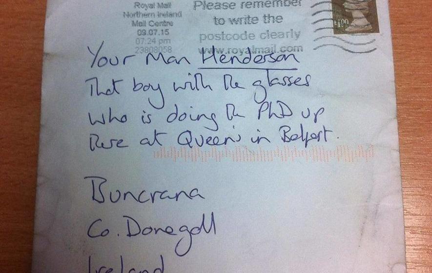 No Return To Sender For Donegal Mans Letter