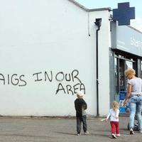 Sectarian graffiti painted over in east Belfast