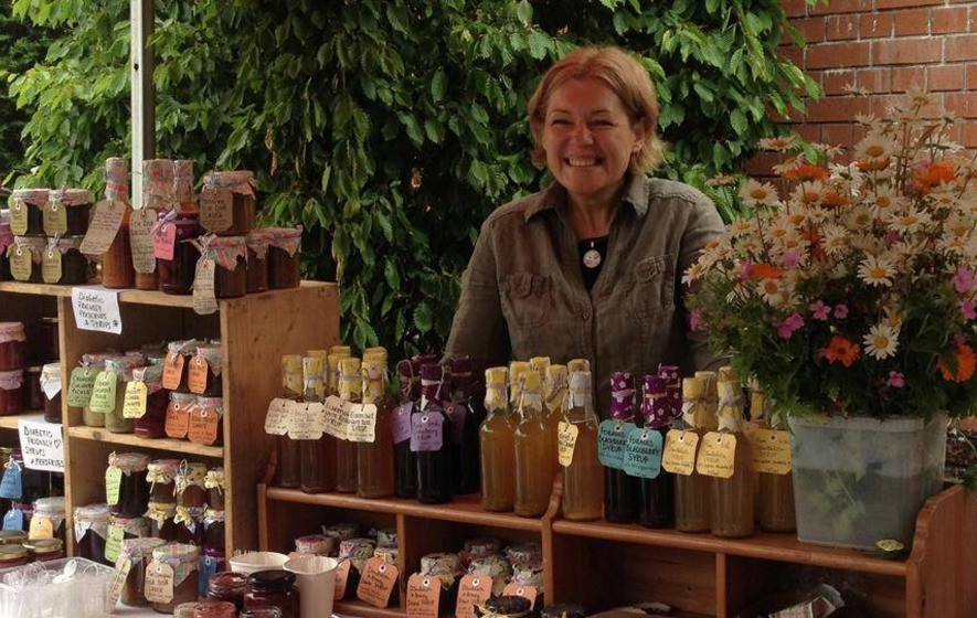Organic grower Alicia sets out her exotic stall