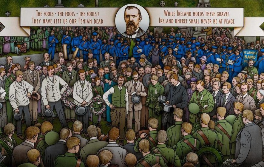 Ballagh print of iconic Fenian funeral scene to be launched