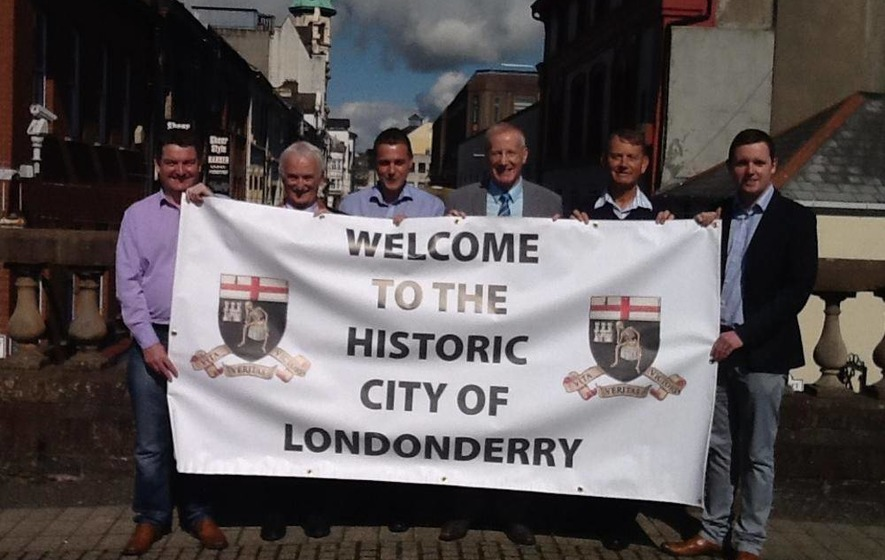 'Londonderry' banner to welcome Apprentice Boys of Derry