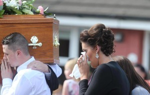 Mourners told young mum's killer has torn 'family apart'
