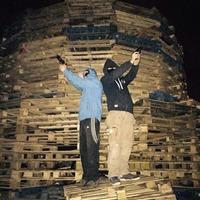 Union flags burnt on anti-internment bonfires