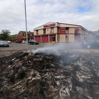 Anti-internment bonfire forced homeless charity to move