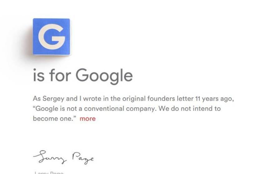 Google is now owned by Alphabet in surprise shake-up