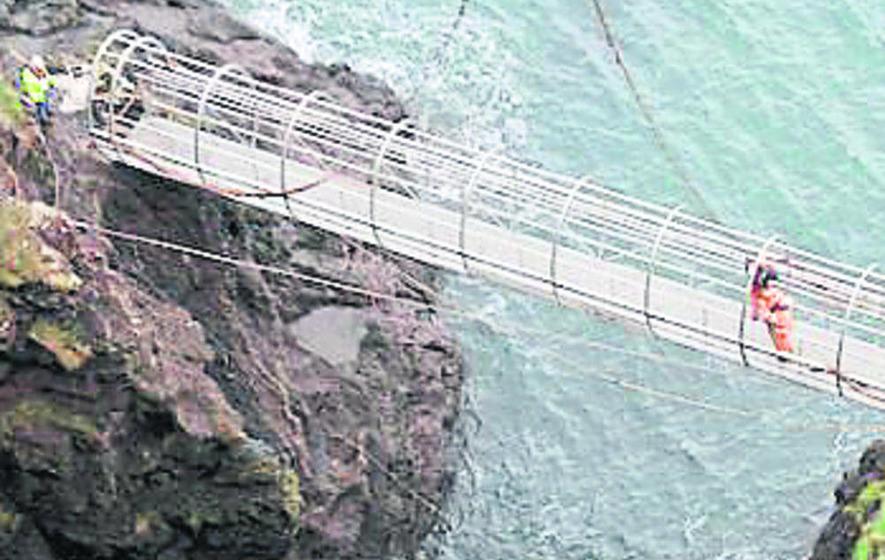 Walk in mid-air over Irish Sea on restored Gobbins path