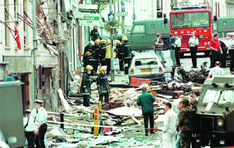 Omagh stops to remember bomb victims