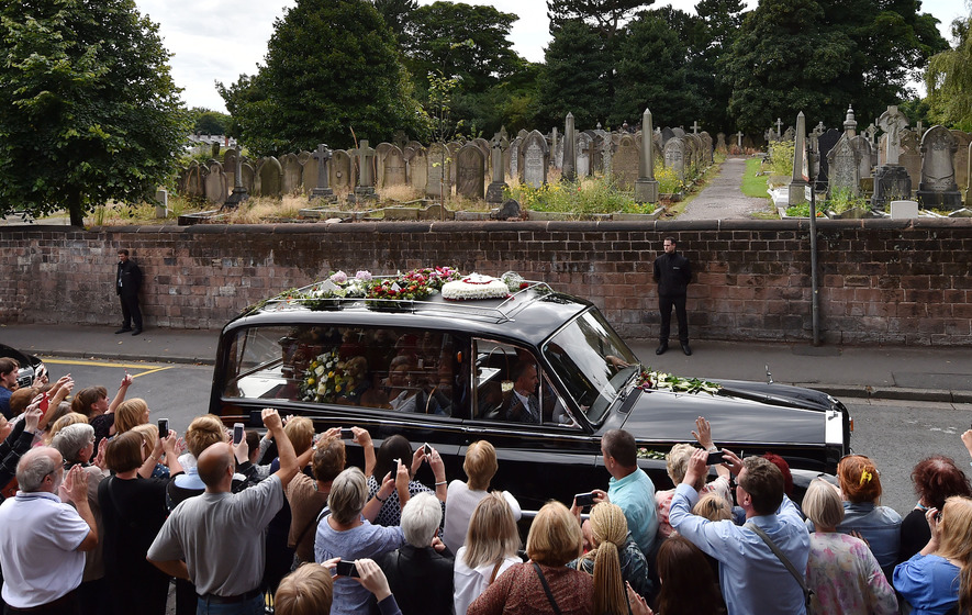 Stars and locals turn out for Cilla Black's funeral