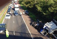 M1 reopens following crash involving two lorries