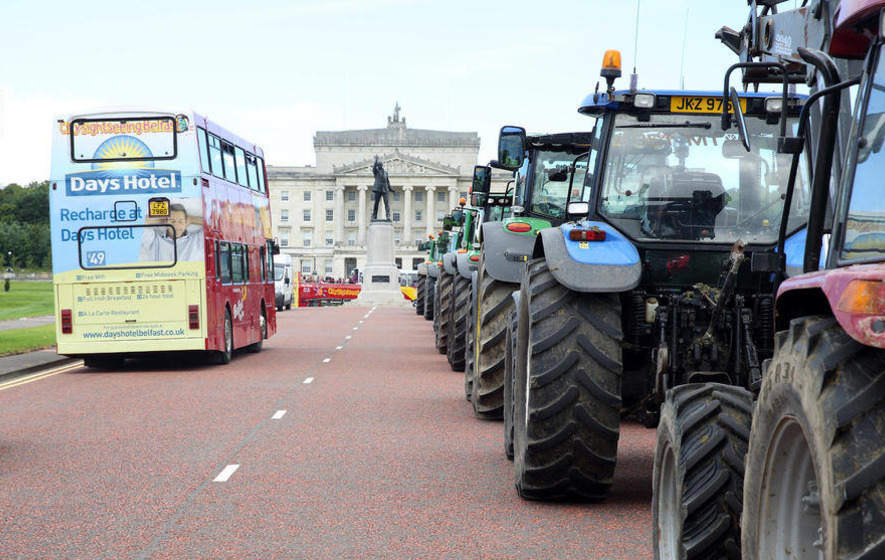 Farmers plan Stormont protest message to Brussels