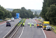 M1 reopened citybound after four-vehicle collision