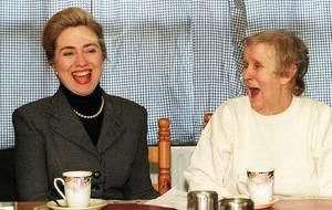 Hillary Clinton 'tired' of Belfast teapot yarn