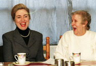 Hillary Clinton 'tired' of Belfast teapot yarn