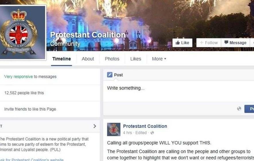 Outrage as Protestant Coalition calls for protest against refugees