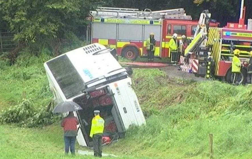 Miracle escape after bus crash