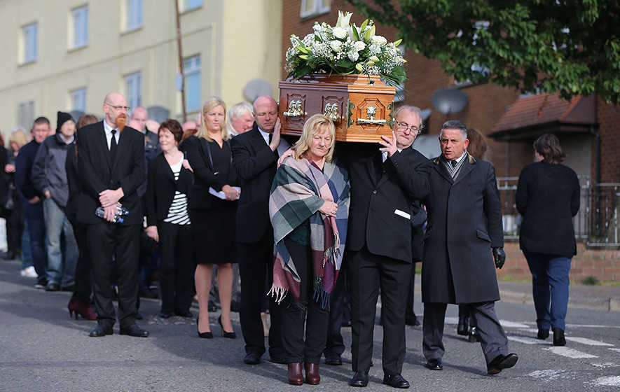 Relatives of Disappeared victim Seamus Wright voice gratitude at funeral