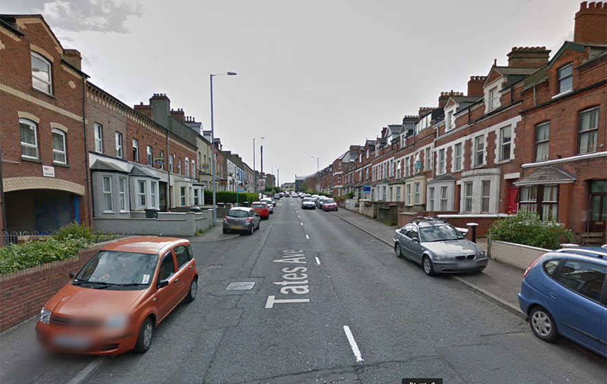 Woman and dog 'thrown out of first floor window'