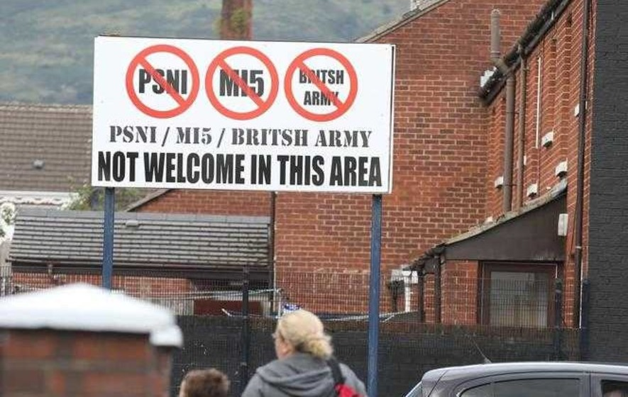 Misspelt Anti Psni Sign Appears In Ardoyne The Irish News