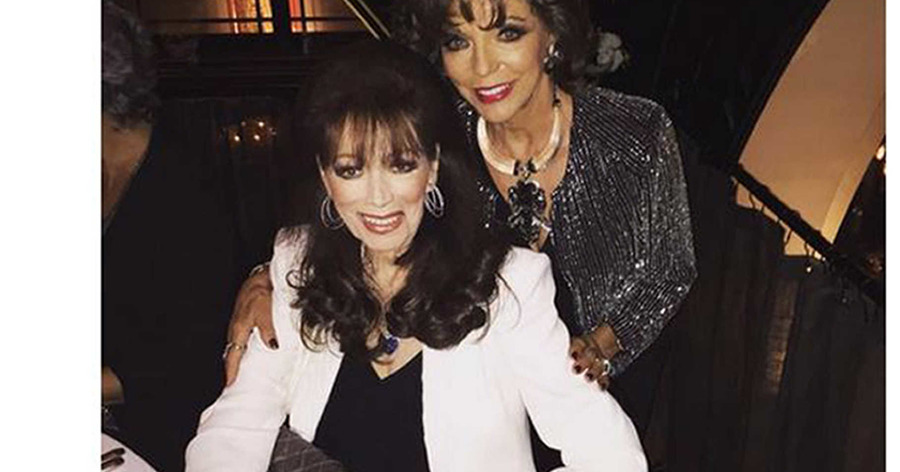 Actress joan collins will spend christmas with her late sister and best-selling british author jackie collinss