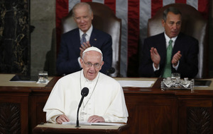 Pope Francis in historic speech to US Congress