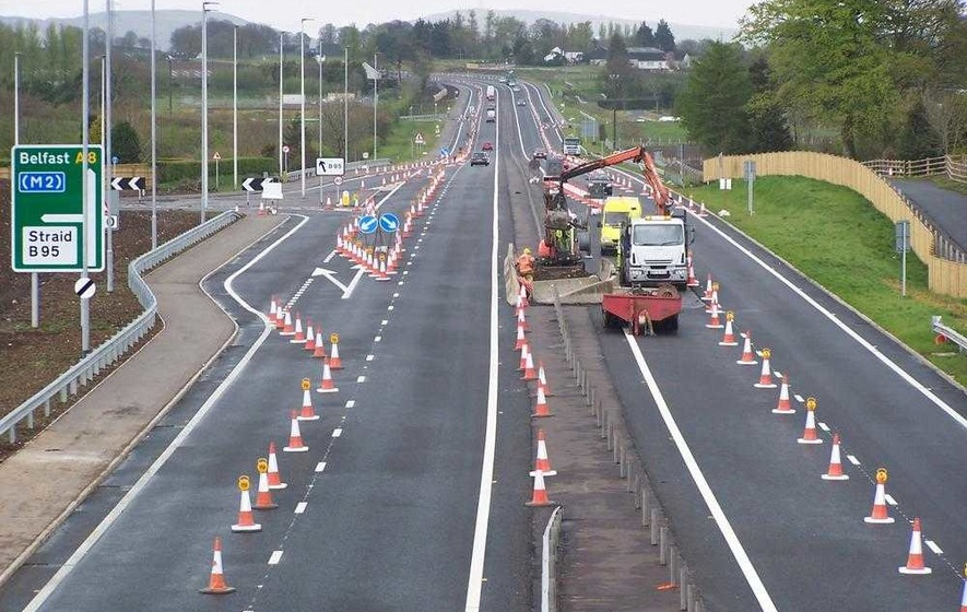 Work on new £133m Belfast-Larne road 'almost complete'