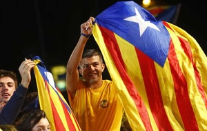 Catalan independence supporters celebrate
