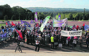 Stormont rally against closure of NHS-run residential homes