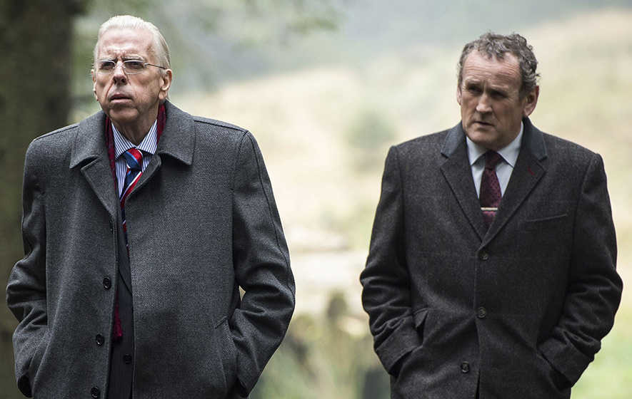 Photo shows Colm Meaney as Martin McGuinness and Timothy Spall as Ian Paisley in 'The Journey'