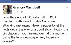 Campbell launches online attack against Irish News
